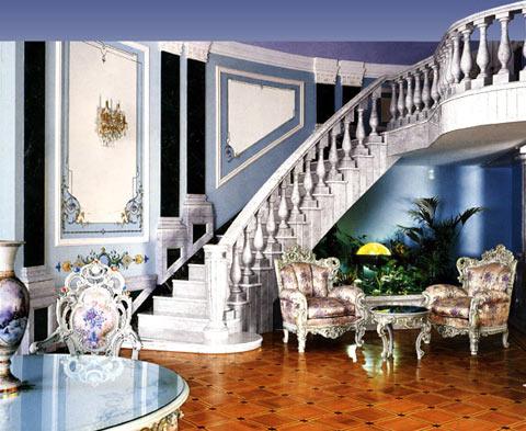 Мраморная лестница в интерьере фото